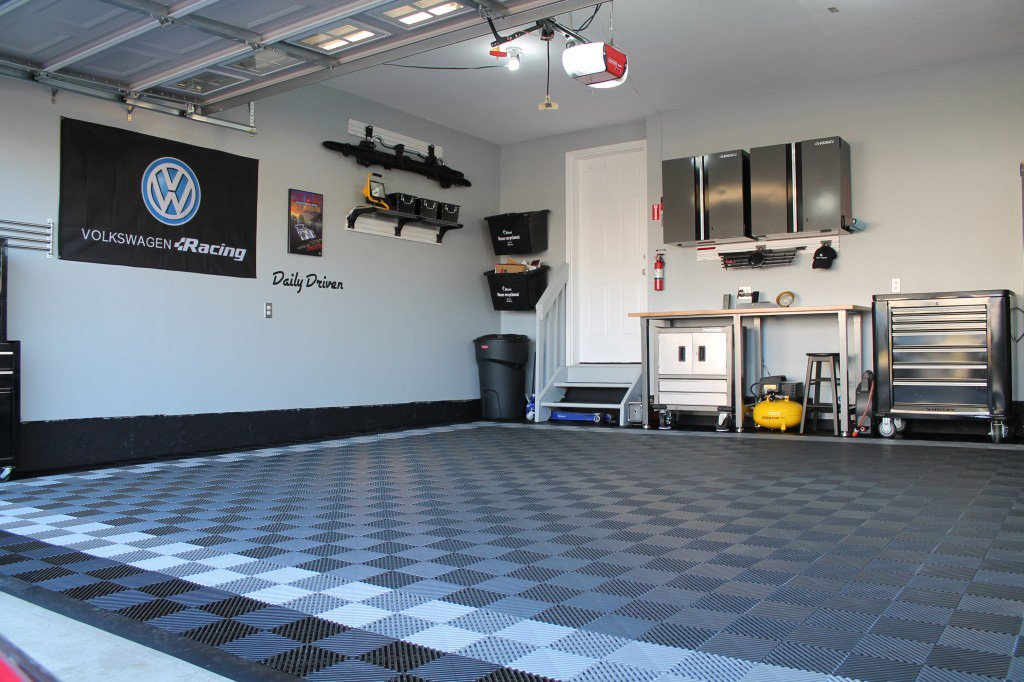 RaceDeck Free-Flow Open Rib Design, Durable Interlocking Modular Garage Flooring Tile (48 Pack), Graphite by RaceDeck (Image #6)