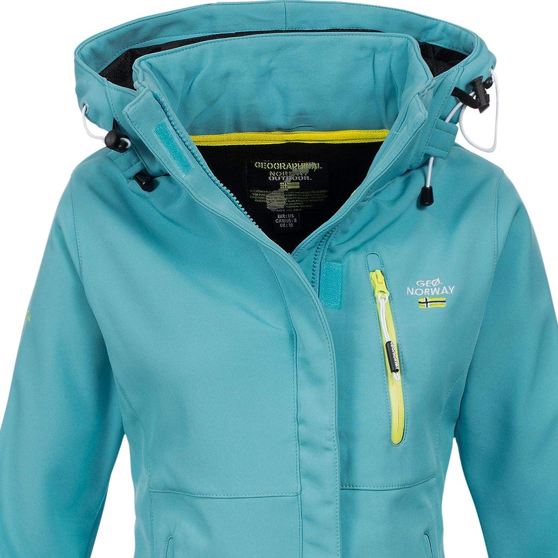 Chaqueta de tejido softshell con capucha para mujer Geographical Norway Touna B