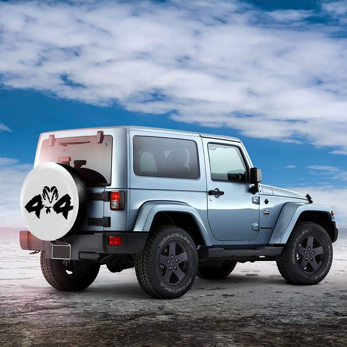 WBinHua Couvre-Roue de Secours Spare Wheel Covers Jeep-Wrangler Logo 4X4 Spare Wheel Tire Cover Vinyl Cover with Elastic Hem-Durable Design Keeps Dirt