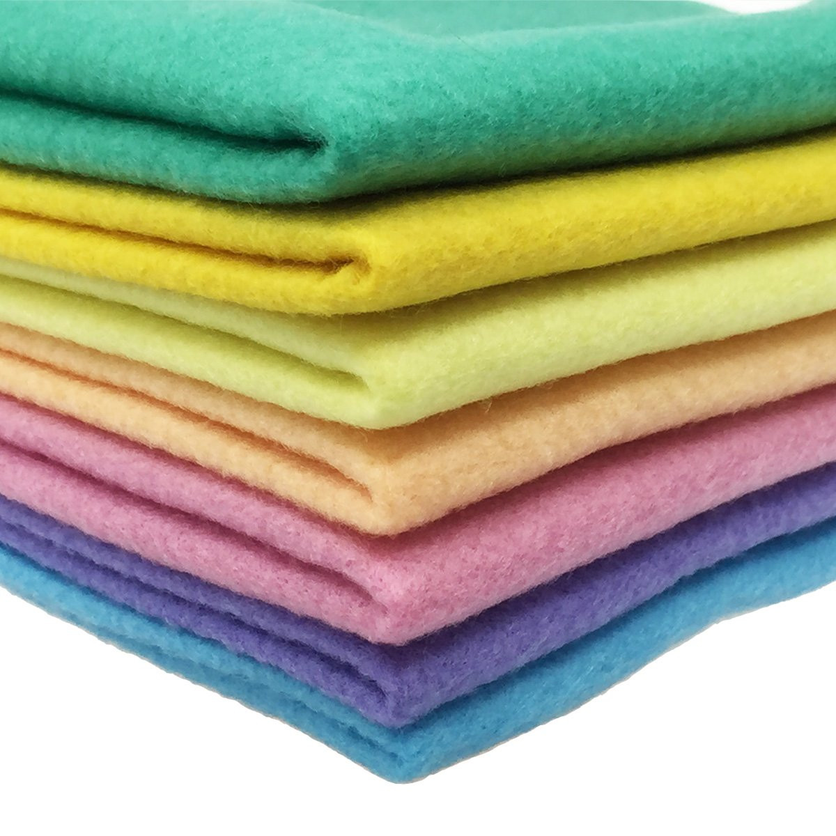flic-flac 28pcs 12 x 8 inches 1.4mm Thick Soft Felt Fabric Sheet Assorted Color Felt Pack DIY Craft Sewing Squares Nonwoven Patchwork 30cmx20cm