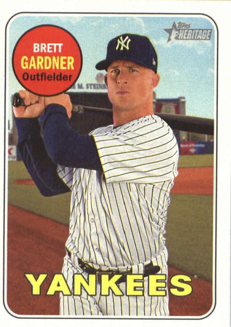 2018 Topps #204 Brett Gardner New York Yankees Baseball Card