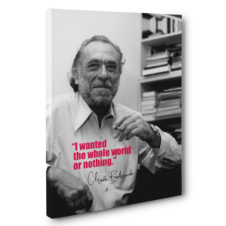 Charles Bukowski Motivational Quote Canvas Wall Art