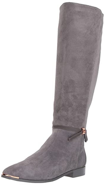 7ddd202b4f77 Ted Baker Women s LYKLA Over The Over The Knee Boot Grey Suede 5 Medium US