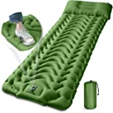 Camping Sleeping Pad, MEETPEAK Extra Thickness 3.9 Inch Inflatable Sleeping Mat with Pillow Built-in Pump, Compact Ultralight
