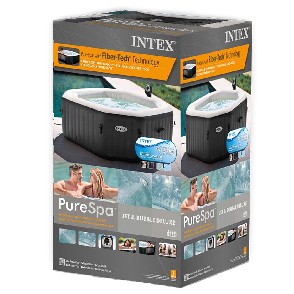 intex 28456 pure spa jet und bubble deluxe whirlpool im test aufblasbare whirlpools. Black Bedroom Furniture Sets. Home Design Ideas