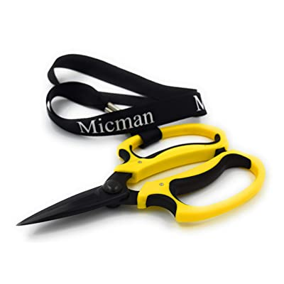 Micman Professional Grade Floral Scissors. High Carbon Steel Teflon Coated Blade (No Rust!) with Comfort Grip Handle. Florist Shears Perfect for Arranging Flowers, Pruning, Trimming Plants, Gardening : Garden & Outdoor