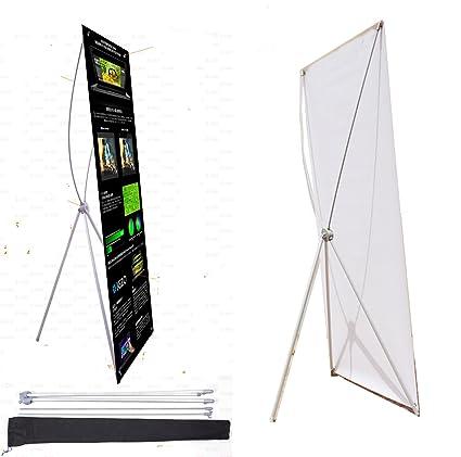 "thedisplaydeal X tipo Banner Stand para 2 Banner tamaños (24 ""x63 ..."