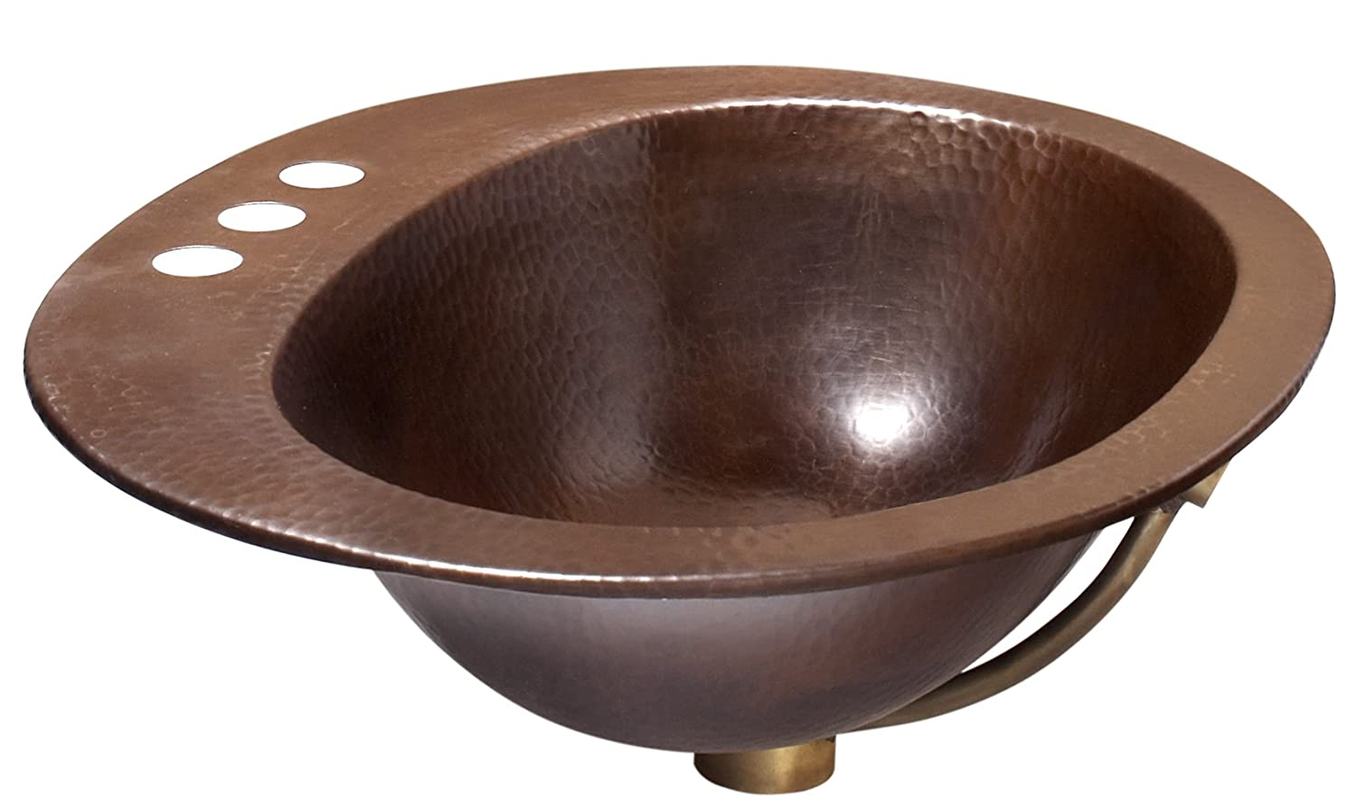 Sinkology Seville Copper Drop-in Bath Sink with Overflow in Aged ...