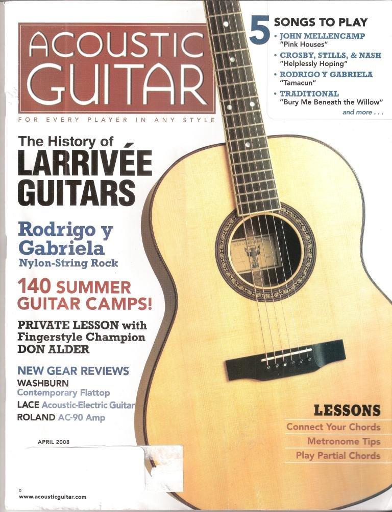 Acoustic Guitar April 2008 Amazon Books