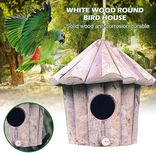 Casita para pájaros exteriores, mezcla de madera, exterior, decoración de jardín, terraza o balcón: Amazon.es: Hogar
