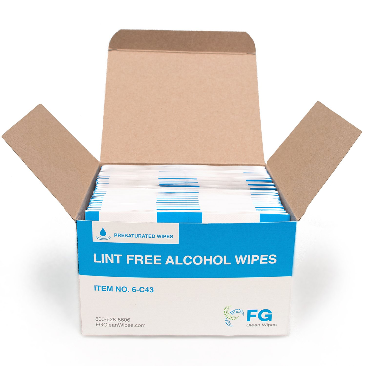 FG Clean Wipes 6-C43 Lint Free Presaturated Wipes (Box of 60) by FG Clean Wipes (Image #4)
