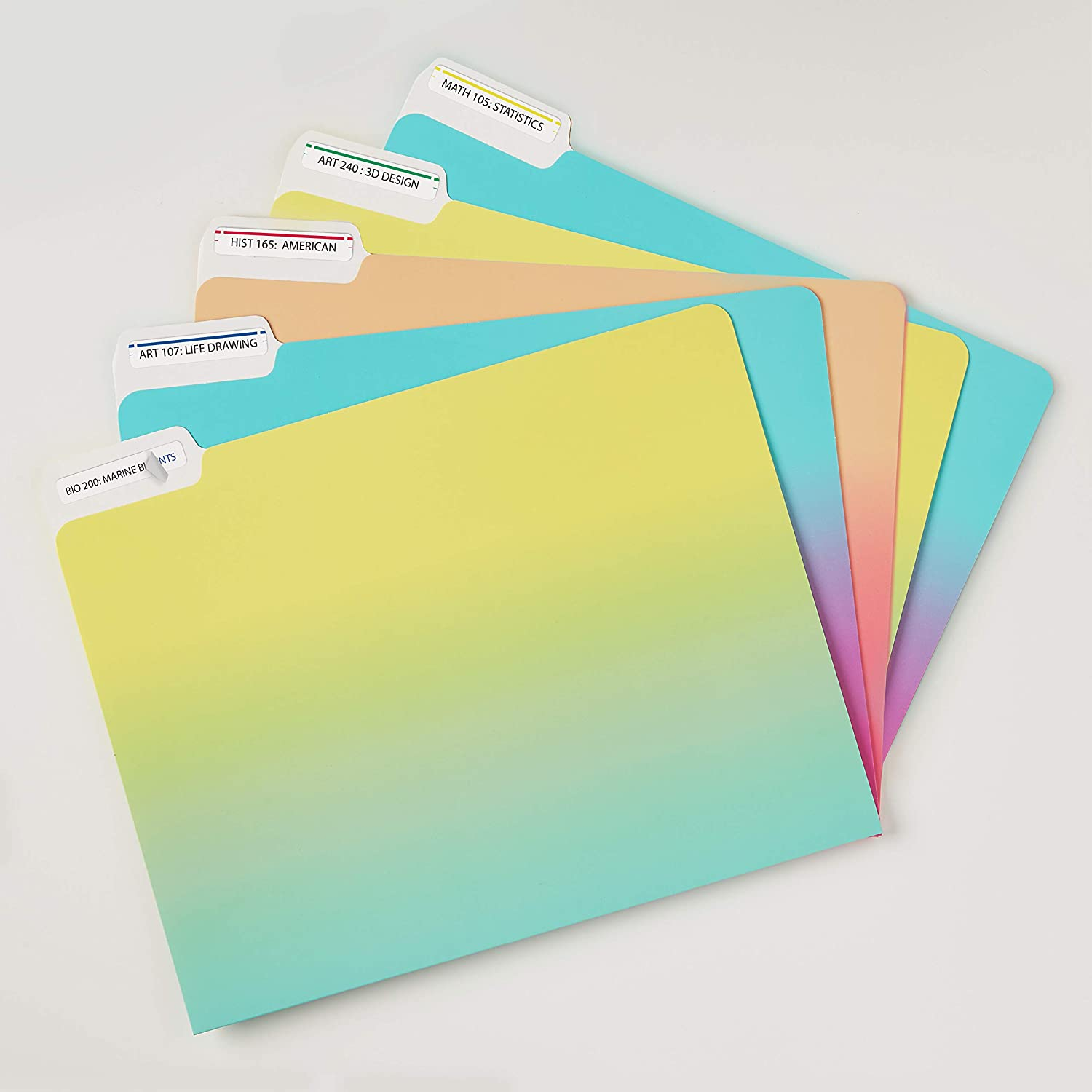 10 Packs Avery File Folder Labels in Assorted Colors for Laser and Inkjet Printers with TrueBlock Technology 0.67 x 3.43 Inches 5266