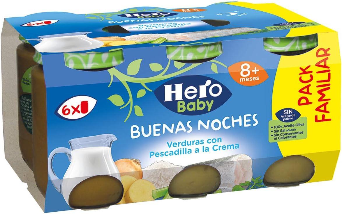 Hero Baby Buenas Noches Tarrito De Pescado 1140 g - Pack de 3: Amazon.es: Alimentación y bebidas