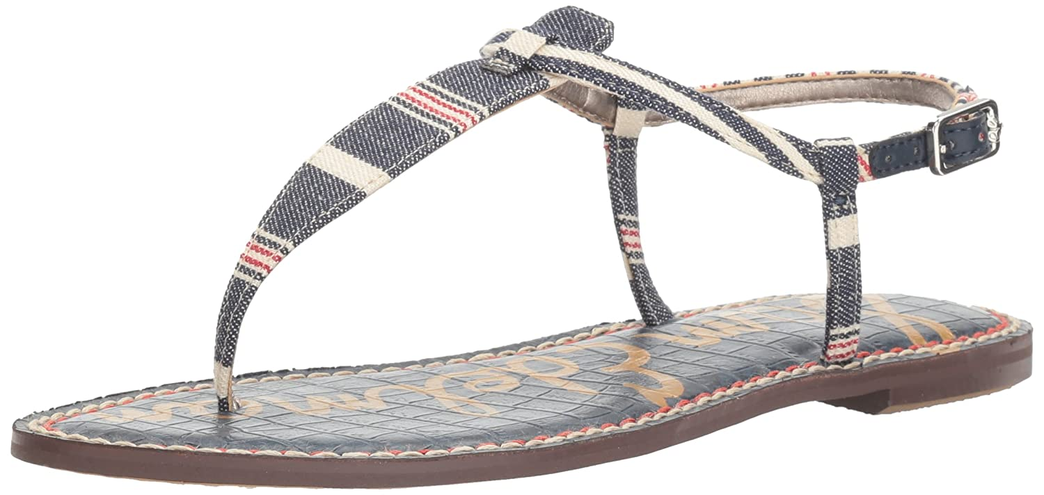Sam Edelman Women's Gigi Leather B01LXP45LG 6.5 M US|Blue/Multi Americana Stripe