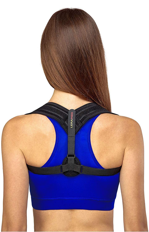 Leramed Posture Corrector for Women Men - Effective and Comfortable Adjustable Posture Correct Brace - Posture Brace - Clavicle Support Brace - Posture Support - Upper Back Pain Relief