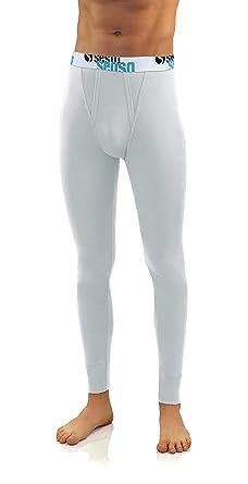 Sesto Senso® Calzamaglia Lunga Uomo Cotone Biancheria Intima Pantaloni Termici Funzionali