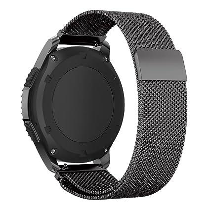 XIHAMA Bracelet de montre en acier inoxydable avec boucle italienne pour Samsung Gear S3 Frontier/S3 Classic: Amazon.fr: High-tech