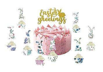 Sunbeauty Muffin Und Cupcake Deko Set Ostern Banderolen Hase Cake