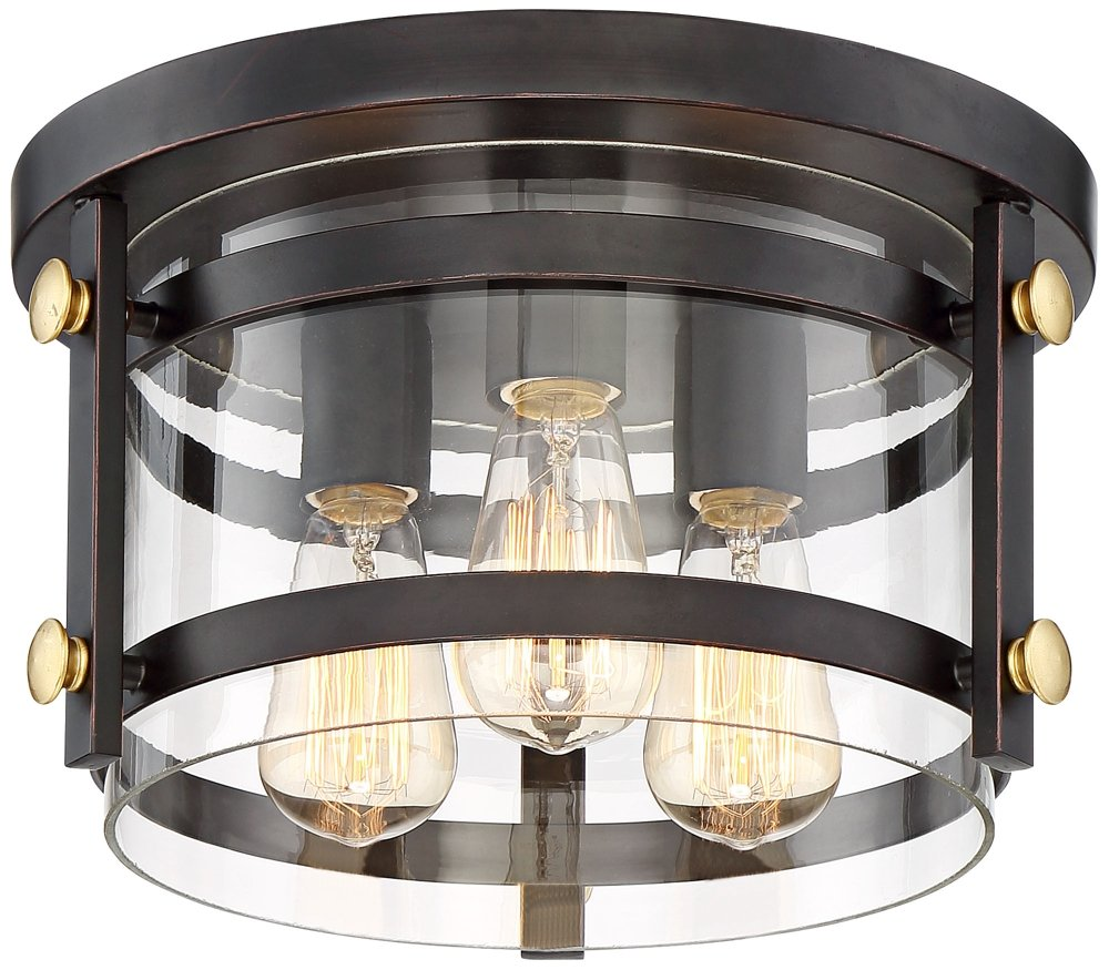 Eagleton 13 1/2'' Wide Oil-Rubbed Bronze Ceiling Light by Franklin Iron Works