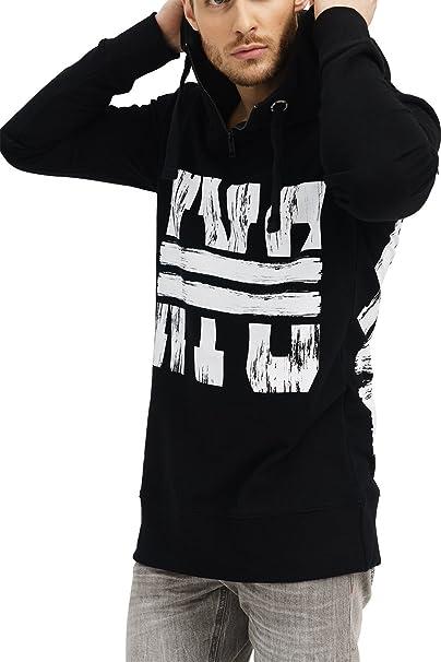 trueprodigy Casual Hombre Marca Sueter Estampado Ropa Retro Vintage Rock Vestir Moda con Capucha Manga Larga Slim fit Designer Cool Urban Fashion Sweater Sudadera Pullover Hoddy Color Gris
