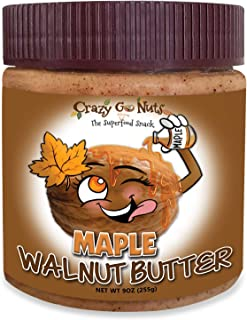 product image for Crazy Go Nuts Walnut Butter - Maple, 9 oz (1-Pack) - Healthy Snacks, Keto, Vegan, Low Carb, Gluten Free, Superfood - Natural, Non-GMO, ALA, Omega 3 Fatty Acids, Good Fats and Antioxidants