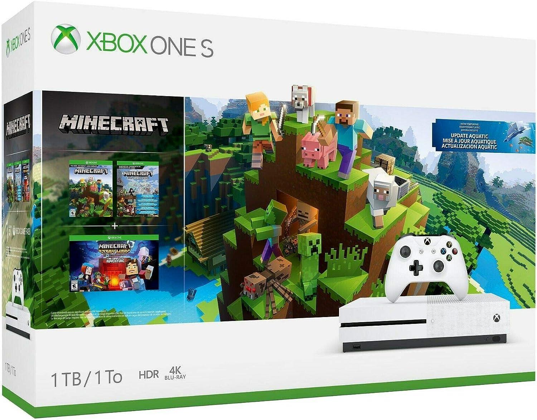 Console Xbox One S 10TB – Conjunto Minecraft