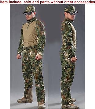 ATAIRSOFT Camiseta y Pantalones tácticos para Hombre BDU de Combate Uniforme para Deportes al Aire Libre, Militar, Airsoft, Paintball, Juegos de Guerra, Disparo MR: Amazon.es: Deportes y aire libre