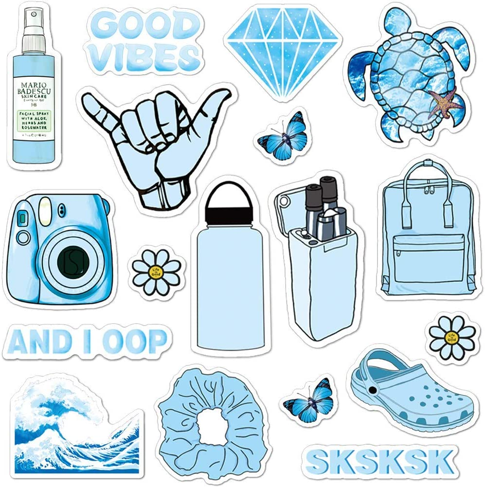 ANERZA VSCO Stickers for Hydro Flask, Light Pink Vinyl Waterproof Water Bottle Stickers for Hydroflasks, Laptop, Phone, Cute Trendy Aesthetic Stickers for Teens, Girls, VSCO Girl Stuff