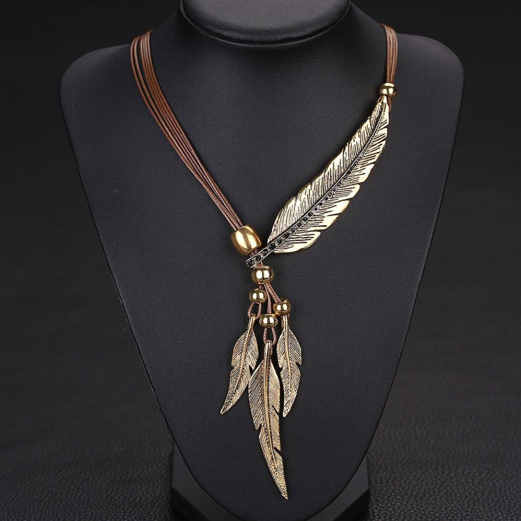 1260150ad Amazon.com: Botrong Feather Antique Vintage Time Necklace Sweater Chain  Pendant Jewelry (Brown): Sports & Outdoors