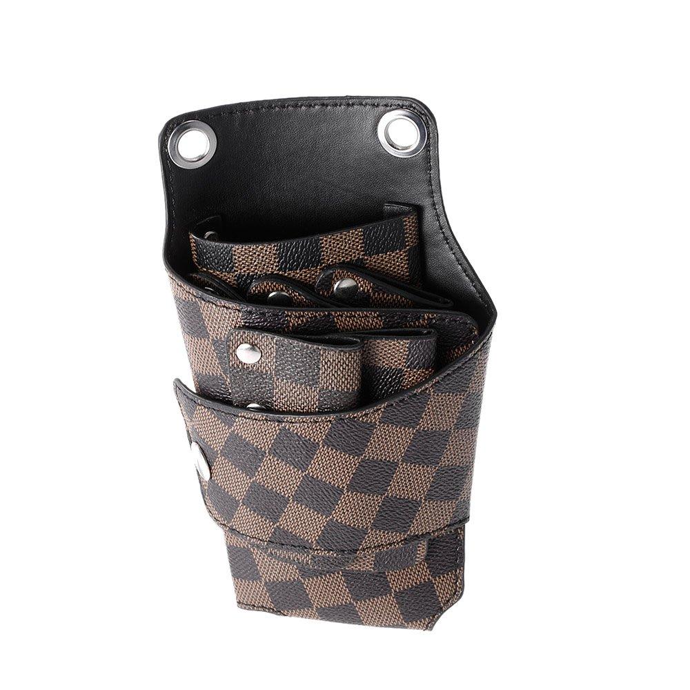 Anself Barber Holster Pouch Holder Rivet Hair Scissor Bags Clips PU Leather Waist Shoulder Belt W4240-HMMFBA