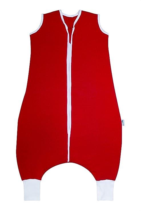 Slumbersac adulto verano saco de dormir con pies 1.0 Tog – diversos tamaños y diseños rojo