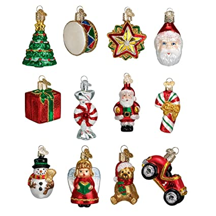 Miniature Christmas Ornaments.Old World Christmas Ornaments Mini Christmas Set Glass Blown Ornaments For Christmas Tree