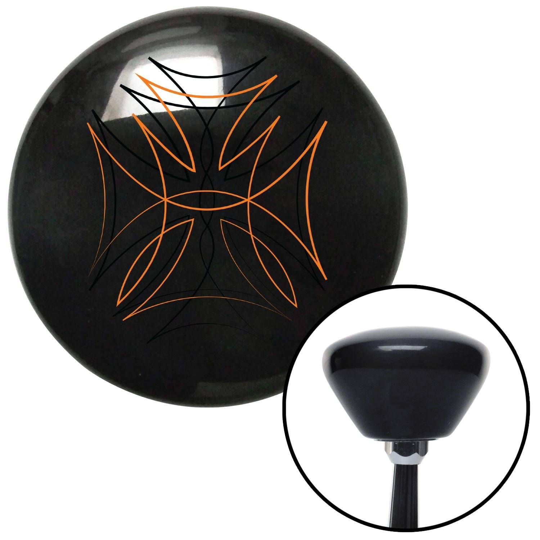 American Shifter 150426 Black Retro Shift Knob with M16 x 1.5 Insert Black and Orange Pinstripe 2