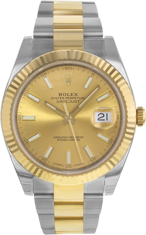 NUEVO Rolex Datejust II Acero inoxidable y 18K oro amarillo reloj para hombre 116333 CHIO