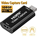 DIGITNOW Audio Video Capture Cards 1080P HDMI to USB 2.0 Record to DSLR Camcorder Action Cam,Computer for Gaming, Streaming, Teaching, Video Conference or Live Broadcasting