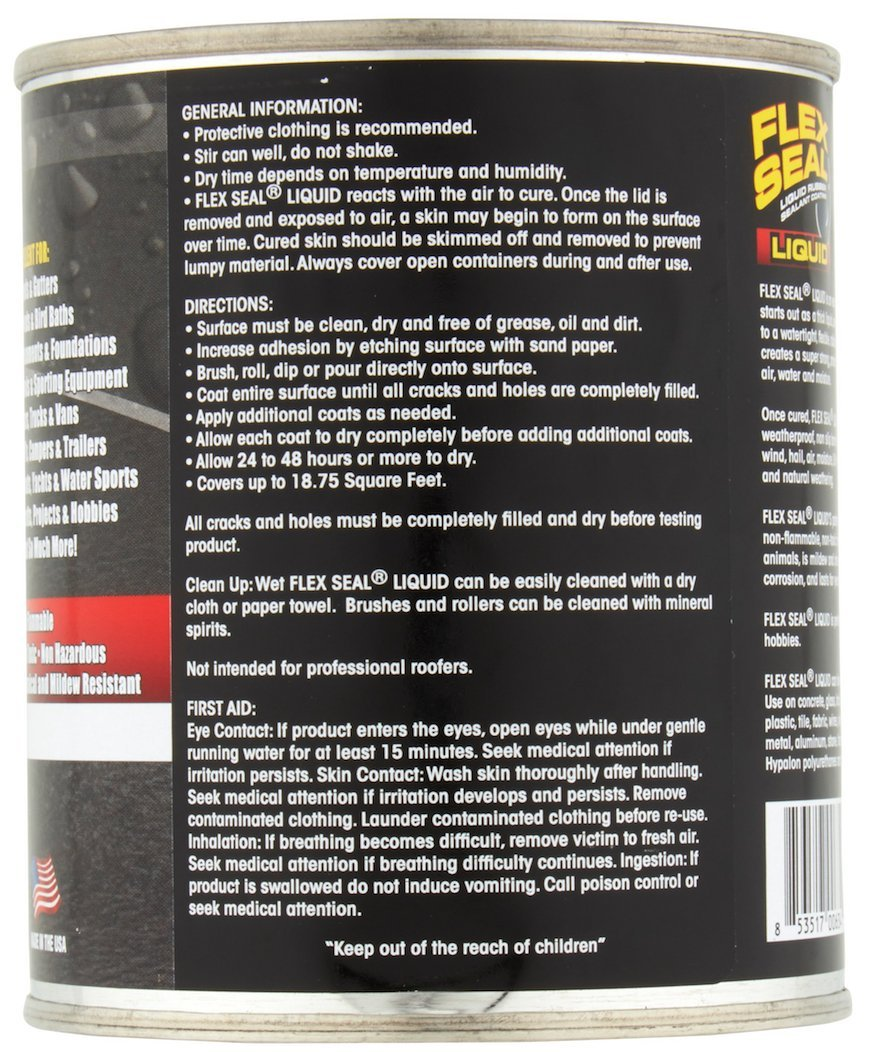 Flex Seal Liquid Rubber in a Can, 32-oz, Black by Flex Seal Liquid (Image #2)