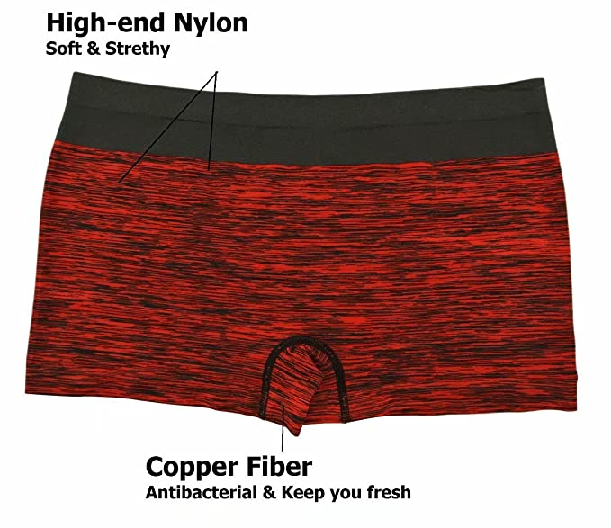 dc29676f95f1 Jzy Qzn Women's Seamless Boyshort Panties Antibacterial Underwear Nylon  Stretch Boxer Briefs: Amazon.co.uk: Clothing