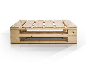 PALETTI DUO Couchtisch Massivholztisch Palettentisch Beistelltisch Tisch Aus Paletten In 60x90 Cm Natur Amazonde Kche Haushalt