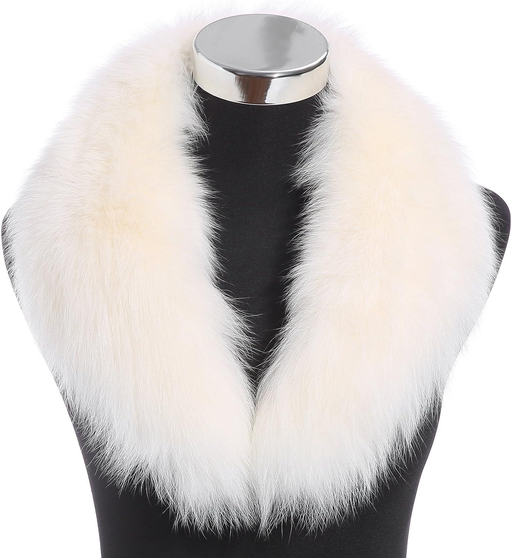Fuchs Pelz Schal Winter Mode Damen lange abnehmbare echte Fell Kragen Stola