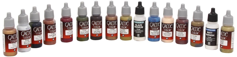 17ml Bottle Specialist Game Color Paint Set (16 Colors) Vallejo 72297
