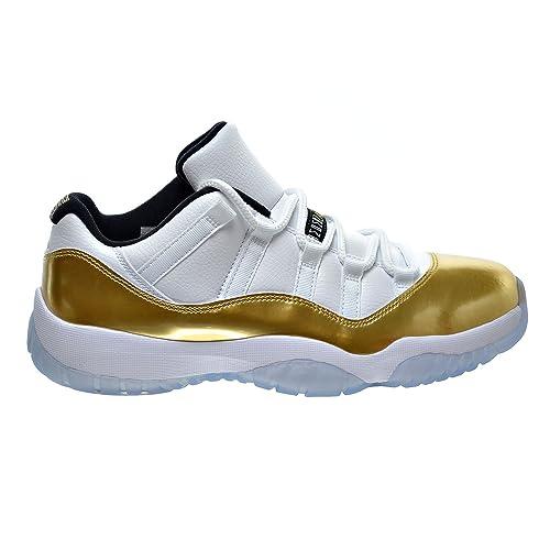 order quality design best service Jordan Air 11 Retro Low Men's Shoes White/Metallic Gold Coin/Black  528895-103 (8.5 D(M) US)