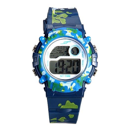 Lancardo Reloj Deportivo Camuflaje Militar de Cuarzo Pulsera Digital con Multifunción de Cronógrafo Alarma Calendario con