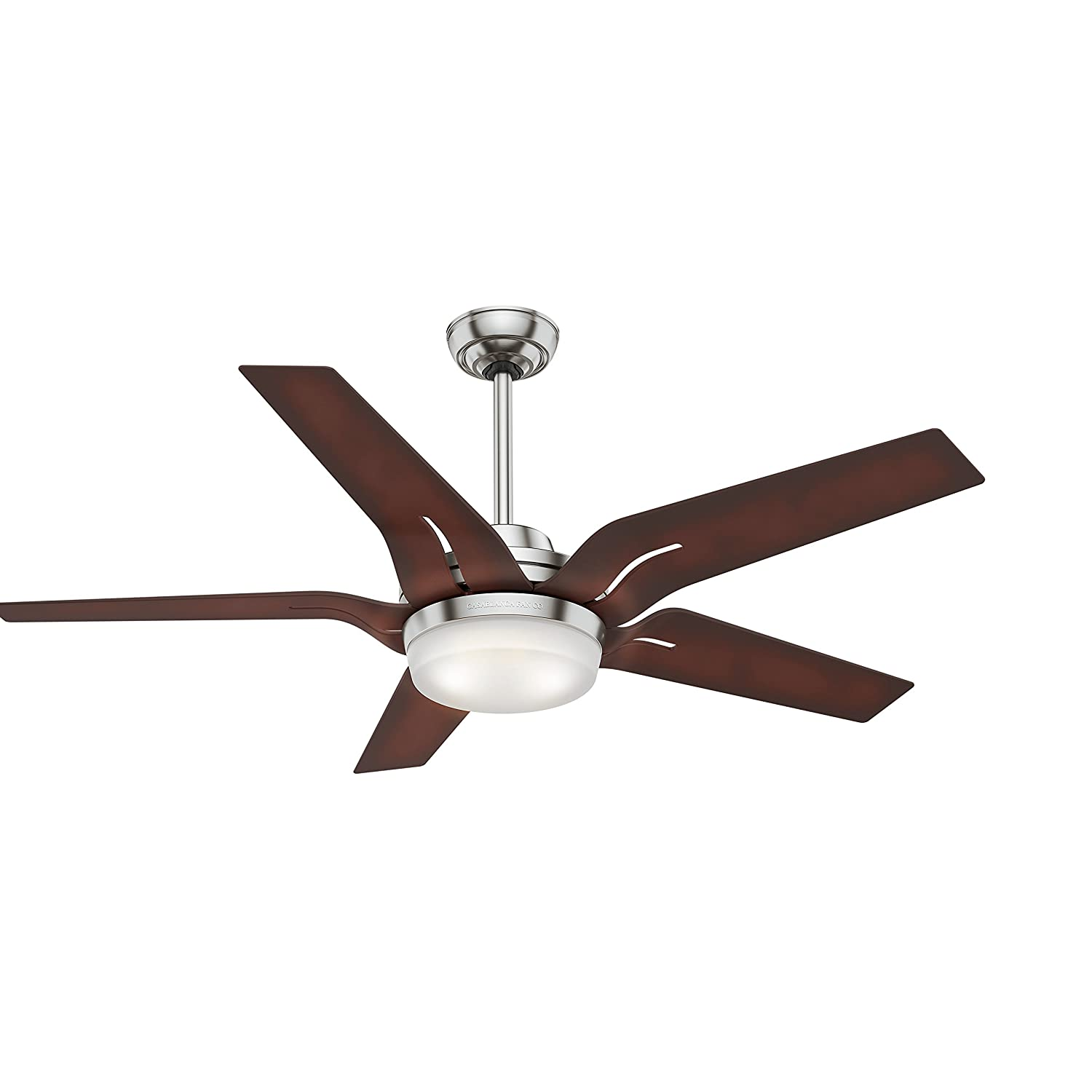 Casablanca Indoor Ceiling Fan with LED Light and Remote Control – Correne Gables 56 inch, Brushed Nickel, 59198