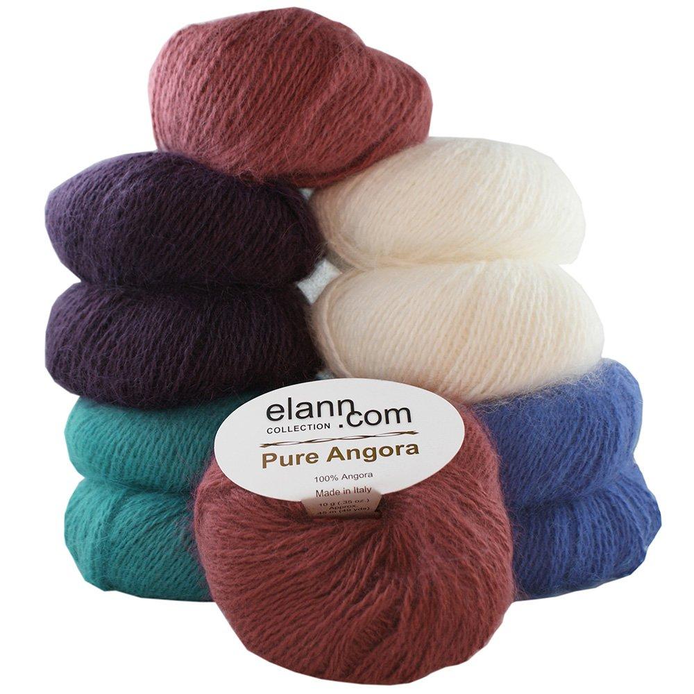 elann Pure Angora Yarn | 10 Ball Bag | Color Pack 2-14