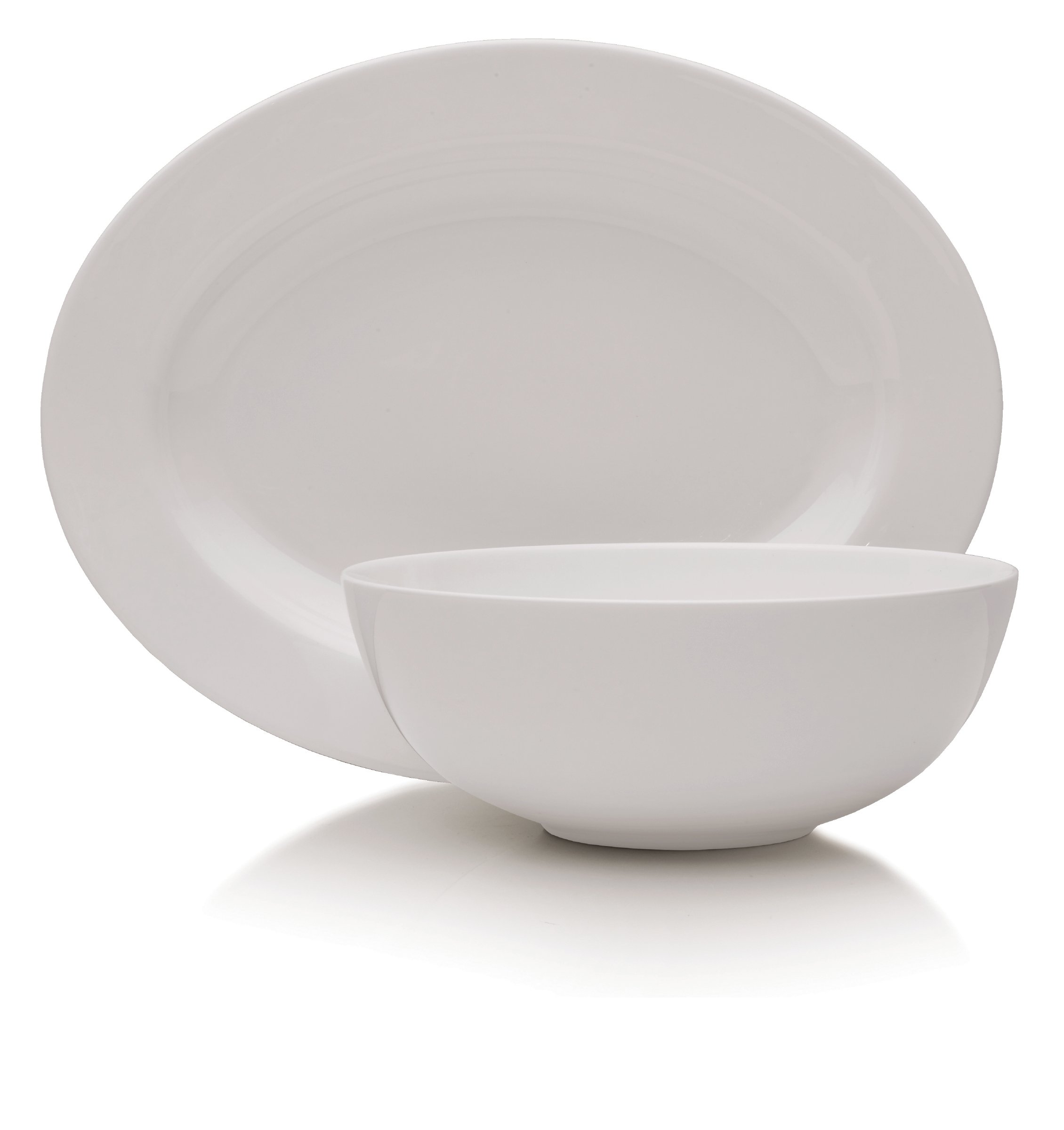 Mikasa Delray 14-Inch Oval Platter and 9-Inch Vegetable Bowl Set