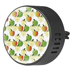 Car essential Oil diffuser Vent Clip - Cute Fruit Apple Green Orange Pattern - 2 PCS Aromatherapy Car Diffuser - Ocean Breeze