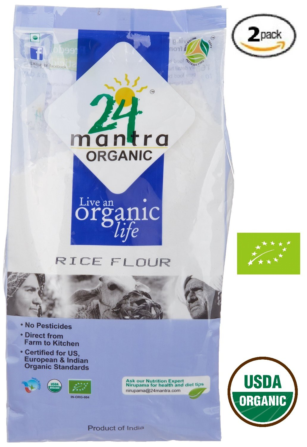 Organic Coriander Powder - Coriander Seeds Powder - ★ USDA Certified Organic - ★ European Union Certified Organic - ★ Pesticides Free - ★ Adulteration Free - ★ Sodium Free - Pack of 2 X 7 Ounces(14 Ounces) - 24 Mantra Organic by 24 MANTRA (Image #7)
