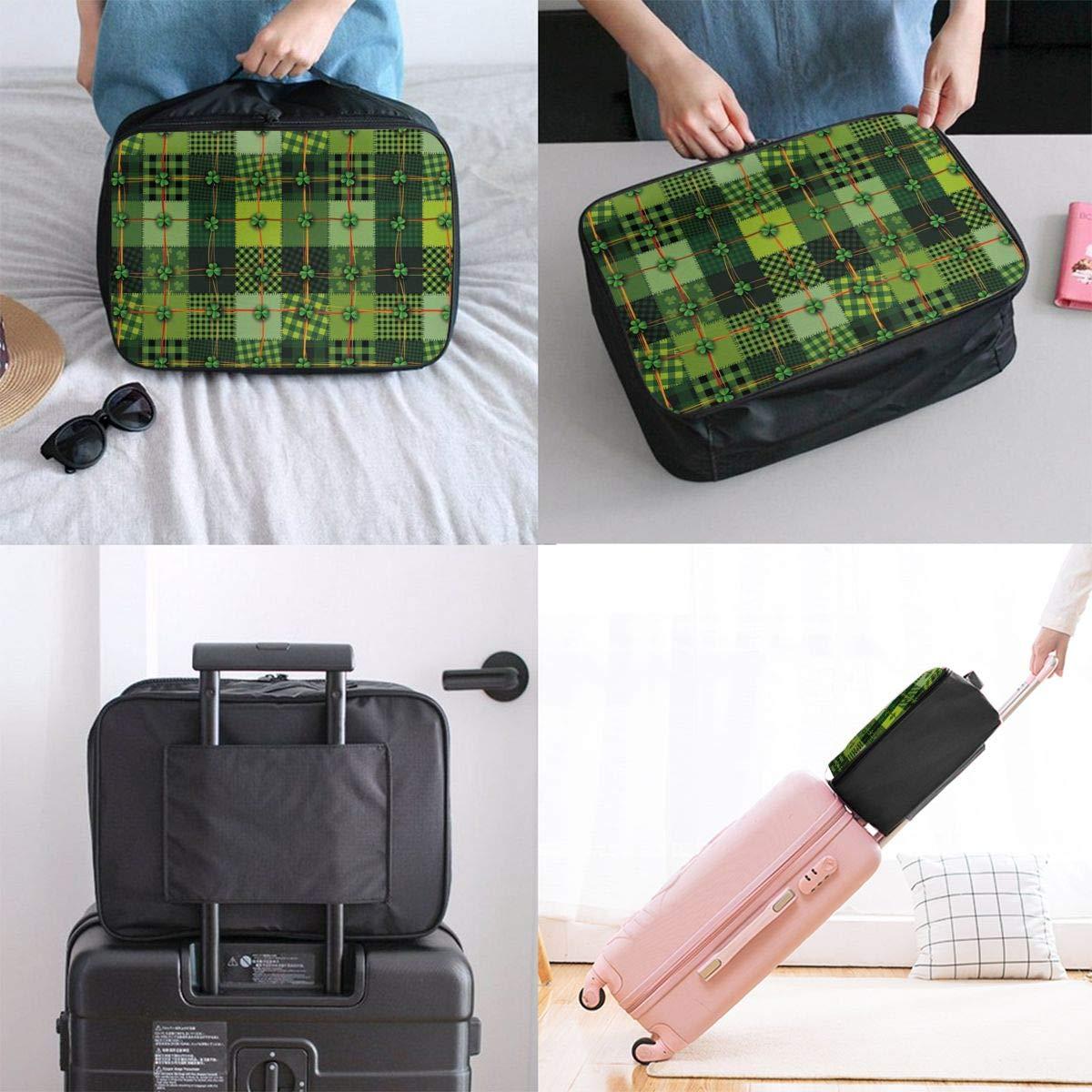 ADGAI Patchwork Style St Canvas Travel Weekender Bag,Fashion Custom Lightweight Large Capacity Portable Luggage Bag,Suitcase Trolley Bag