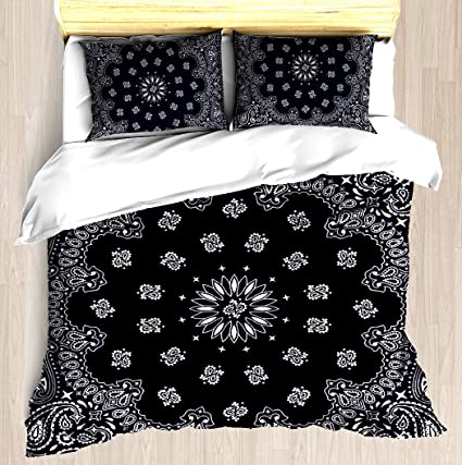 Amazoncom Bandana Navy Blue Duvet Cover Set Soft Comforter