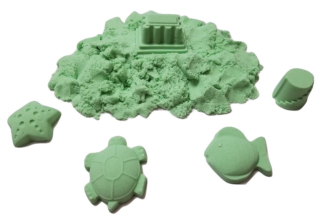 JM Future Refill Space Sand//Moon//Crazy Magic Sand Mold-N-Play Educational Creative Fun Kids Toy DIY 2 lb. Green Green-002